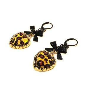 Betray Johnson Leopard Bow Earrings